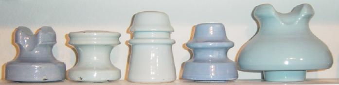 pretty porcelain collectible Beautiful Cobalt Blue Porcelain Thomas Insulator